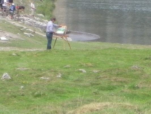Jean Nicolas ROSSI devant le lac