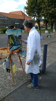 Serge Ribardière en plein travail