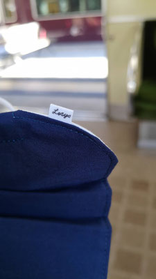 Navy Blue Curtain Mask