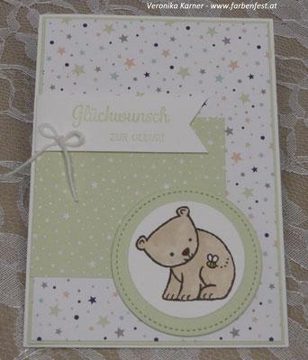 Babykarte Lindgrün