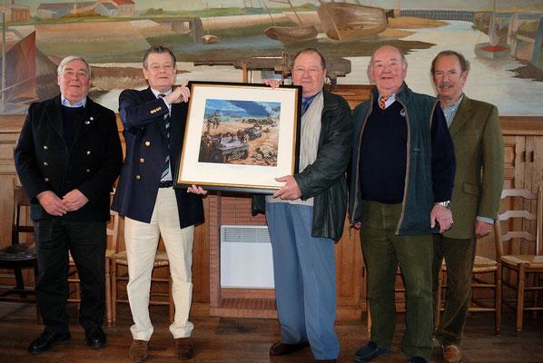 De gauche à droite : Denis Durkin, Andrew Collins, Jean-Pierre Lachèvre, Hugh et Rufus
