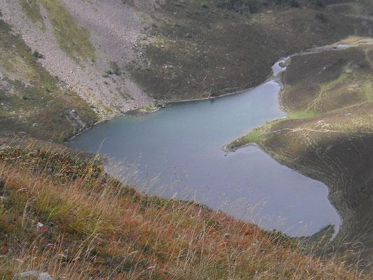 Le lac d'Isaby, vu au retour.