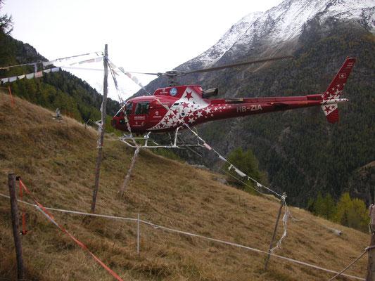 Air Zermatt Flughelfer geht
