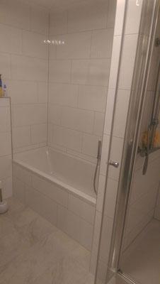 Impression Dusche/Badewanne - nach Fertigstellung