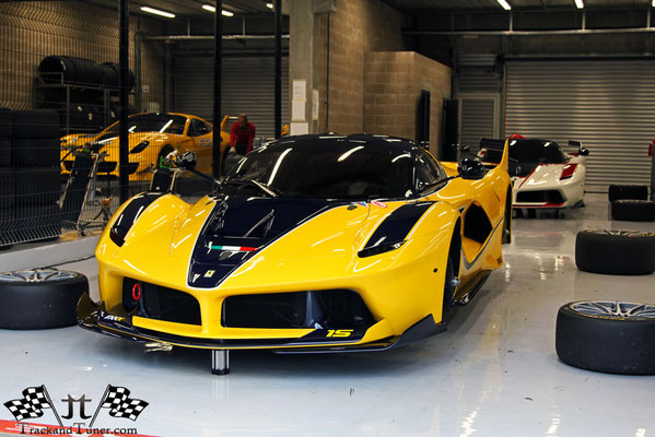 Google CEO Ferrari FXXK & 599XX in Yellow - TrackandTuner