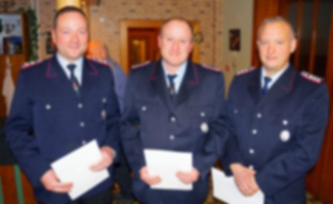 25 Jahre Aktive Mitgliedschaft: Marvin Voge, Malte Neumann und Jens Selzer