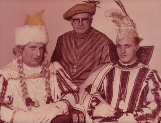 Dreigestirn 1970: Prinz Guido Pauly (Guido I.), Bauer Theo Dost, Jungfrau Ernst Reinartz