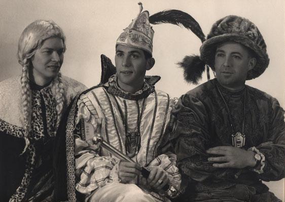 Dreigestirn 1967: Prinz Klaus Hompesch  (Klaus I.), Bauer  Karl Kessel, Jungfrau Josef Hunds