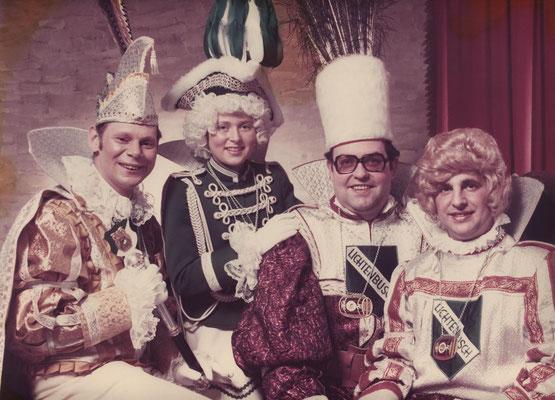 Dreigestirn 1976: Prinz Winand Kessel (Winand I.), Bauer Arnold Campo, Jungfrau Matthias Schumacher