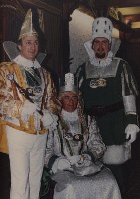 Dreigestirn 1981: Prinz Erwin Reiff (Erwin I.) , Bauer Hans Plymen, Jungfrau Franz Henrion
