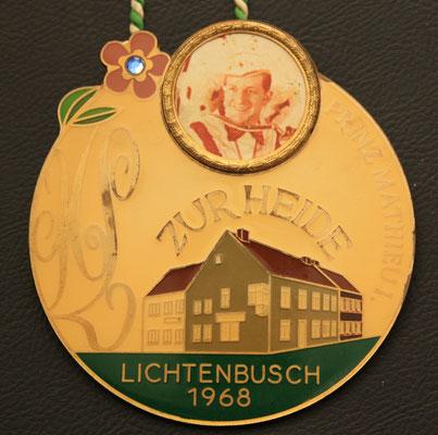 """Session 1968 - Hausorden - Hotel-Restaurant """"Zur Heide"""" - Prinz Mathieu I."""
