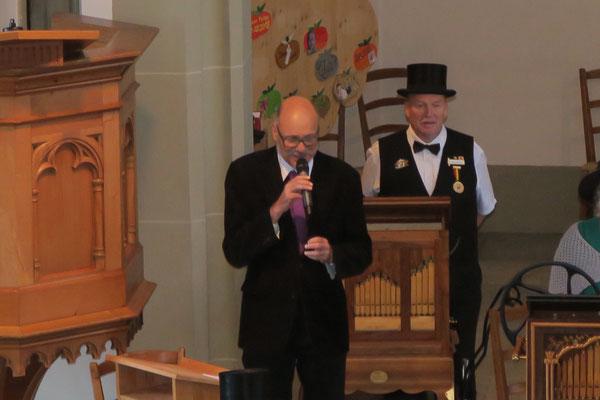 Begrüssung der Konzertbesucher durch Pfr. Peter Hediger Oberentfelden