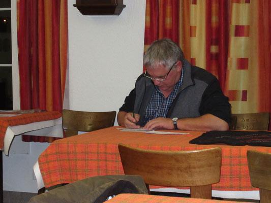 Turnierleiter Jörg Schaub
