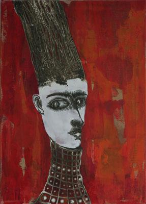 Maskerade, 50 x 70 cm Mixed Media auf Textil
