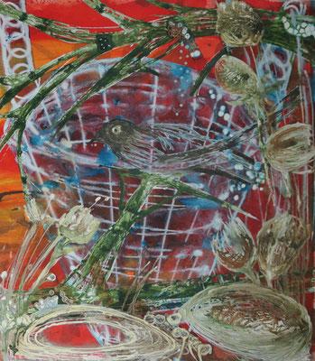 Heimat, 50 x 75 cm, Tusche und Acryl auf Papier