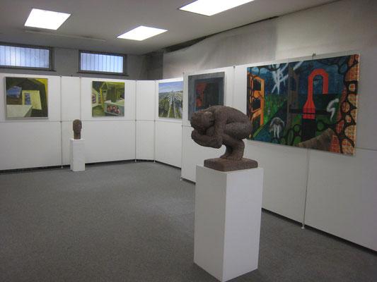 MODELLVERSUCH Ausstellung Bilder Gabriele Sehn u. Skulpturen v. Susan Geel in der Galerie auf Zeit