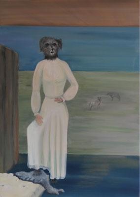 Die Jägerin / Acryl auf Leinwand / 70 x 100 cm
