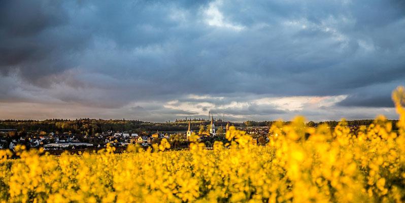 Kastellaun mit Blick auf die evang. sowie kathl. Kirche und die Burgruine. Foto Copyright by SimoneSchmidtFotomomente