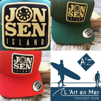 l'art en mer concept store surf shop les lecques casquettes jonsen island
