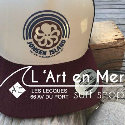 Jonsen island casquettes trucker-hat-rainbow-burgundy