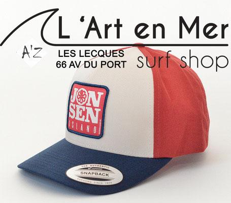 L'Art en Mer Surf Shop Les Lecques casquette Jonsen Island trucker-hat-mercury-tricolore