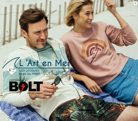 Lightning Bolt collection femmes L'Art en Mer surf Shop Les Lecques