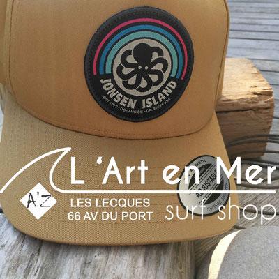 Jonsen island casquettes trucker-hat-rainbow-sand