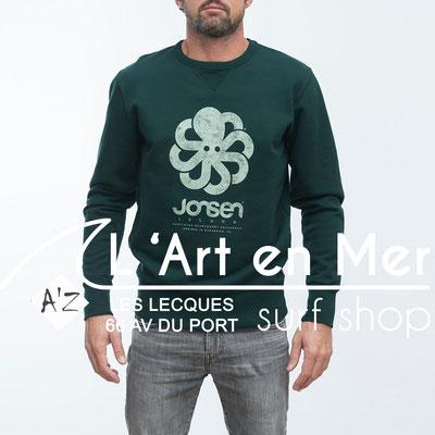 Jonsen island sweatshirt-gustavo-big-greenwhite