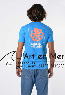 L'Art en Mer Surf Shop Les Lecques Jonsen Island t-shirt-classic-big-label-blue