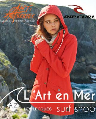 L'art en mer concept store Surf Shop Les Lecques Saint Cyr sur Mer veste femmes anti series Ripcurl