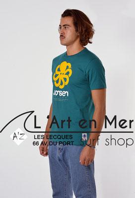 L'Art en Mer Surf Shop Les Lecques Jonsen Island t-shirt-classic-big-green