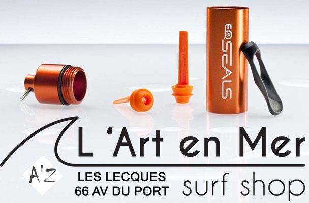 EQ Love cosmétique bio bouchons d'oreilles made in France Surf Shop Les Lecques L' Art en Mer Concept Store Saint Cyr sur Mer