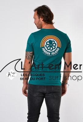 L'Art en Mer Surf Shop Les Lecques Jonsen Island t-shirt-classic-rainbow-green