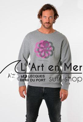 L'Art en Mer Surf Shop Les Lecques Jonsen Island sweatshirt-gustavo-dizzy-hgr
