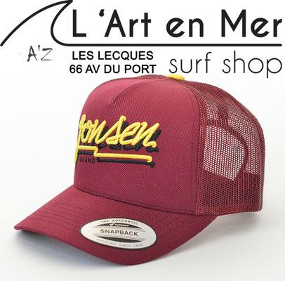 L'Art en Mer Surf Shop Les Lecques casquette Jonsen Island trucker-hat-bubble-burgundy