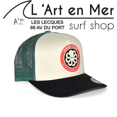 L' Art en Mer Jonsen island casquettes 2020 trucker-hat-logo-green