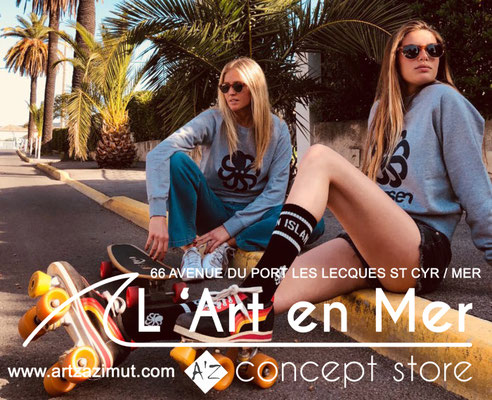 L'art en mer concept store Surf Shop Les Lecques Saint Cyr sur Mer sweat shirt Falco Big Heather grey Jonsen Island