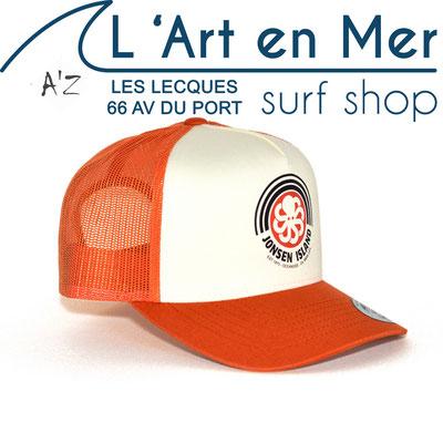 L' Art en Mer Jonsen island casquettes 2020 trucker-hat-rainbow-red