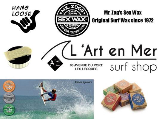 L'art en mer concept store Surf Shop Les Lecques Saint Cyr sur Mer wax originale mister zog