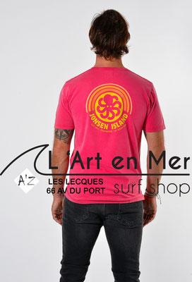 L'Art en Mer Surf Shop Les Lecques Jonsen Island t-shirt-classic-rainbow-purple-fade-out