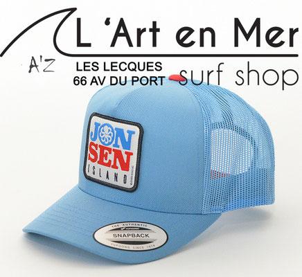 L'Art en Mer Surf Shop Les Lecques casquettes Jonsen Island trucker-hat-mercury-royal