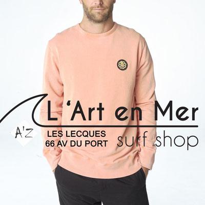L' Art en Mer Jonsen island 2020 sweatshirt-gustavo-mark1-peach
