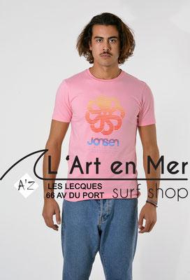 L'Art en Mer Surf Shop Les Lecques Jonsen Island t-shirt-classic-super-big-pink