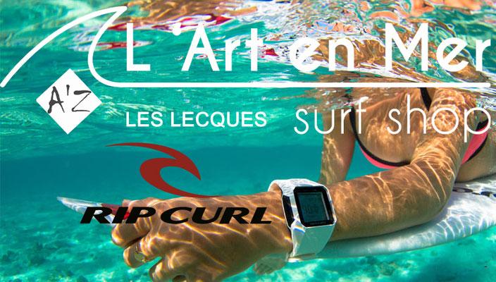 L'art en mer concept store Surf Shop Les Lecques Saint Cyr sur Mer  montres Ripcurl
