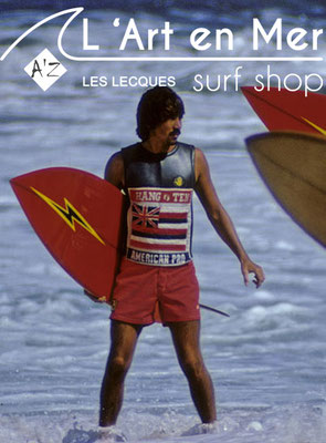 L'art en mer concept store Surf Shop Les Lecques Saint Cyr sur Mer photo surfeur Bolt Jerry Lopez