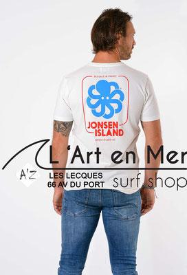 L'Art en Mer Surf Shop Les Lecques Jonsen Island t-shirt-classic-big-label-coconut (1)