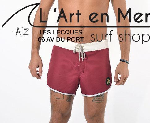 L'Art en Mer Surf Shop Les Lecques Jonsen Island jon-two-belt-burgundywhitegold