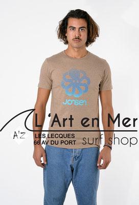 L'Art en Mer Surf Shop Les Lecques Jonsen Island t-shirt-classic-super-big-champagne