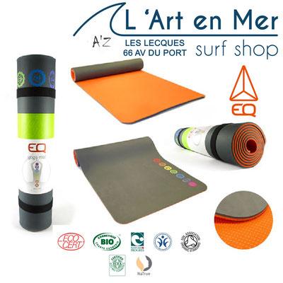 EQ Love cosmétique bio tapis de yoga made in France Surf Shop Les Lecques L' Art en Mer Concept Store Saint Cyr sur Mer