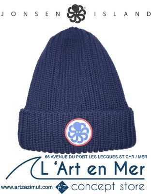 L'art en mer concept store Surf Shop Les Lecques Saint Cyr sur Mer bonnet Wool Navy Jonsen Island